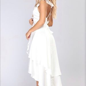 Whitney midi dress white